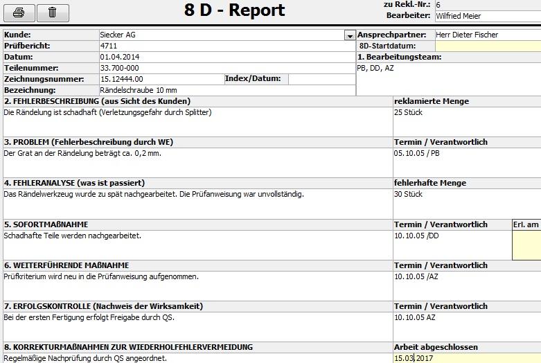 8D Report Software FEMA