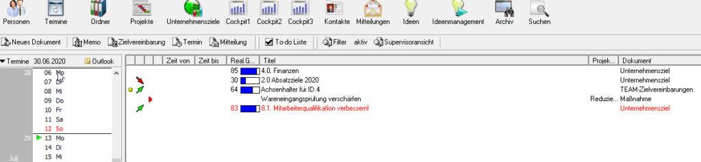 Terminübersicht Kalender Projektmanagement PeopleNet